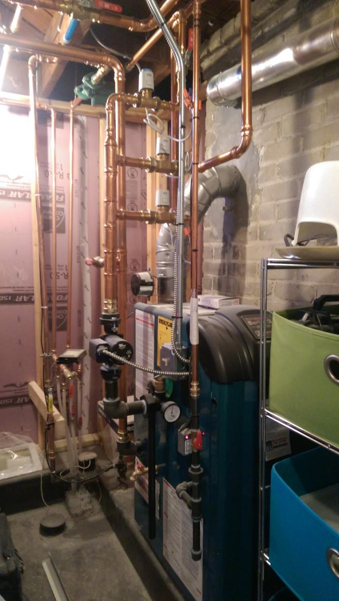 New Boiler & Radiant Piping Installation in South Minneapolis 55405 ...